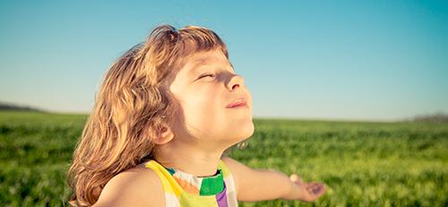 Enfant qui respire bien