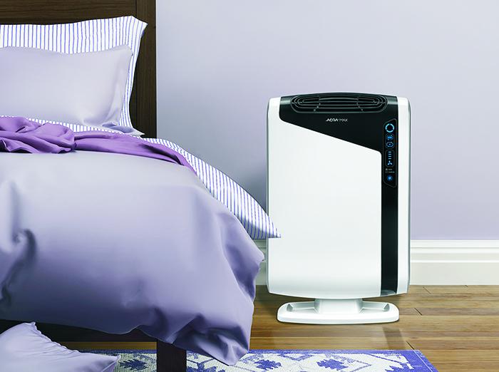 Purificateur d'air FELLOWES AERAMAX DX 95 dans la chambre à coucher