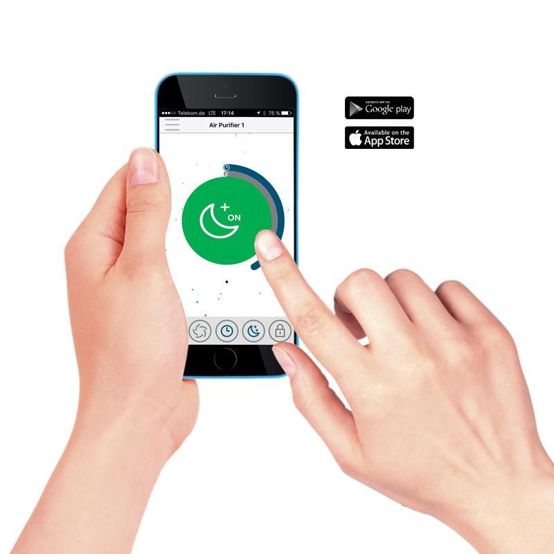 Purificateur d'air connecté à votre smartphone